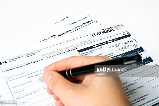 Canadian 2012 T1 Tax Form