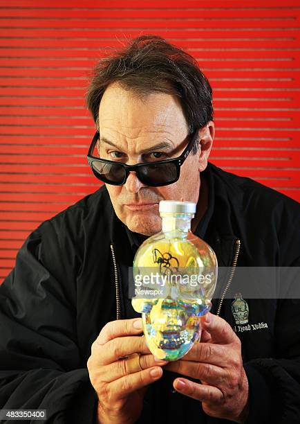 Canadian actor and Crystal Head Vodka ambassador Dan Aykroyd pictured at Nova radio studios in Pyrmont in Sydney New South Wales
