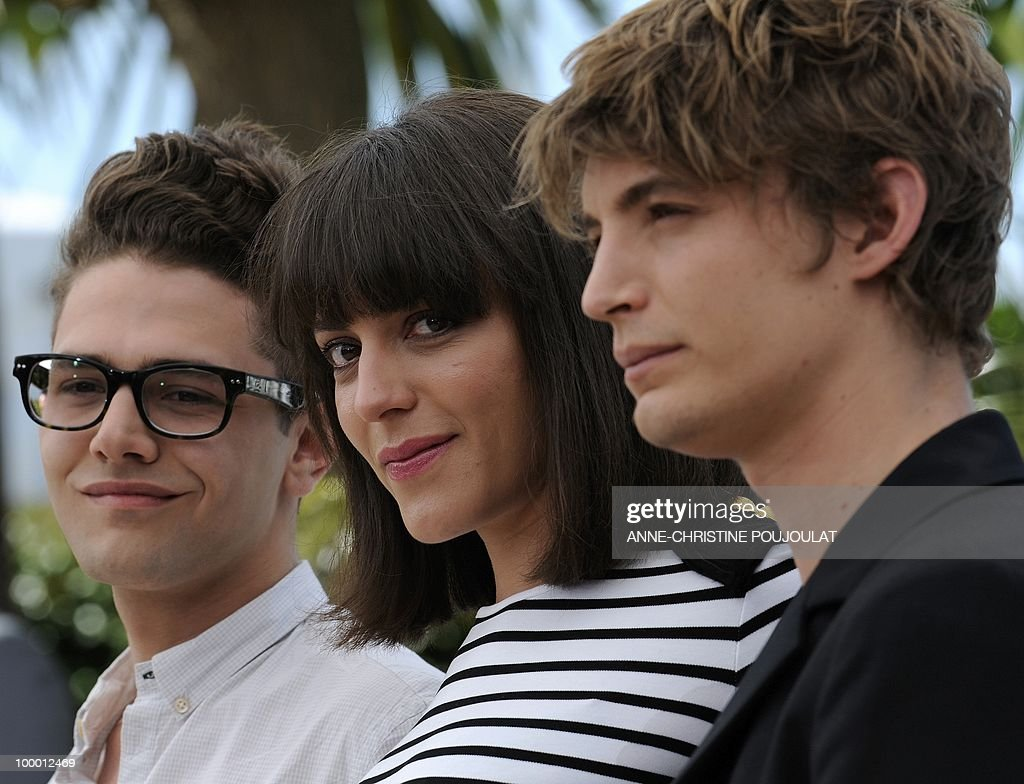 Canadian actor and director Xavier Dolan, Canadian actress Monia Chokri and actor Niels Schneider pose during the photocall of 'Les Amours Imaginaires' presented in the Un Certain Regard selection at the 63rd Cannes Film Festival on May 15, 2010 in Cannes.