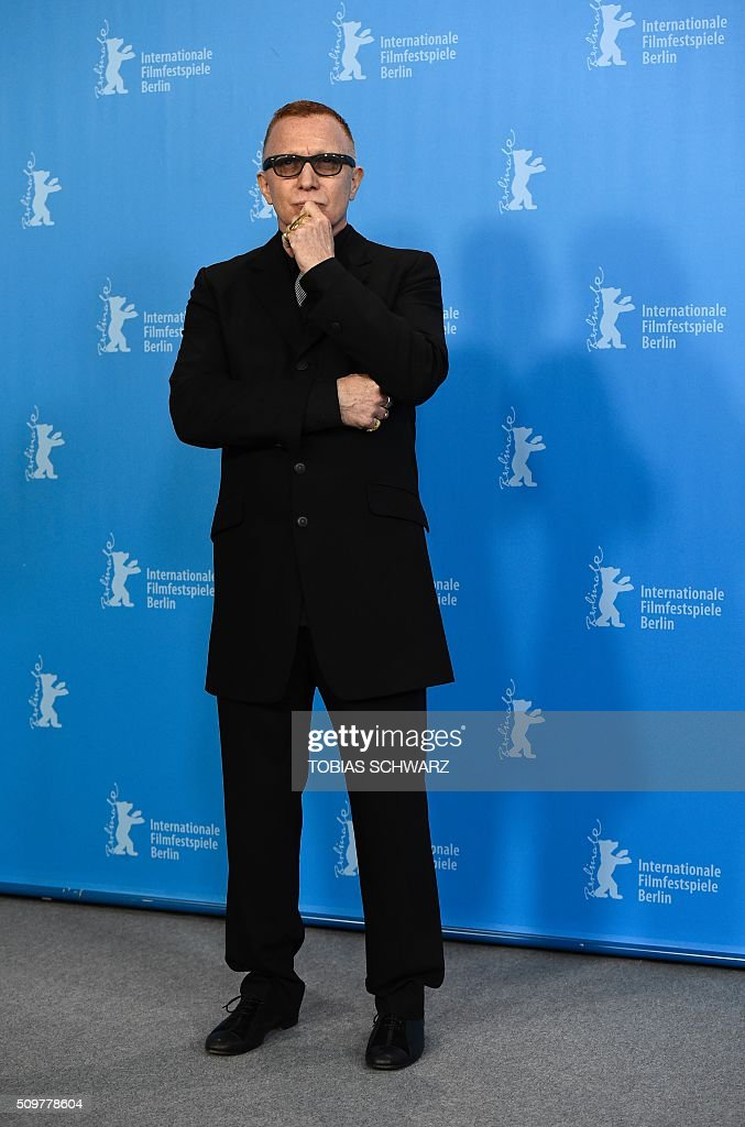 Canadian actor Bruce LaBruce poses during a photo call of the film 'Boris sans Beatrice | Boris without Beatrice' by Canadian director Denis Cote in competition at the 66th Berlinale Film Festival in Berlin on February 12, 2016. / AFP / TOBIAS SCHWARZ