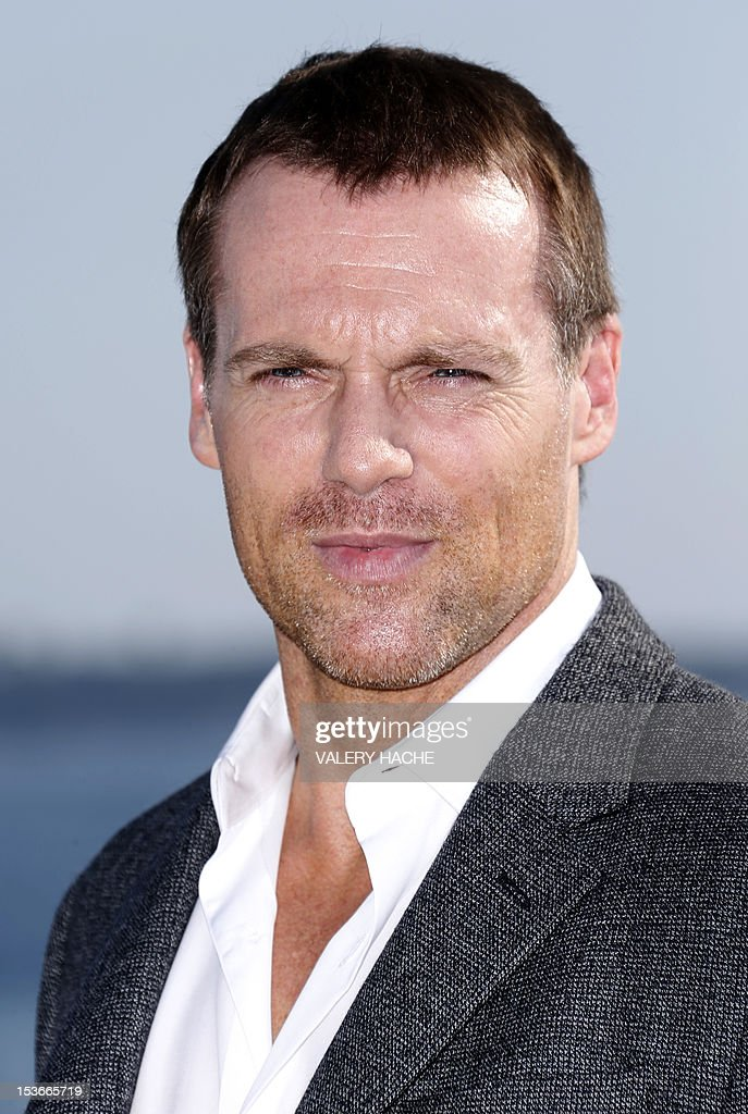 Canadian actor Michael Shanks poses during a photocall for the TV show 'Saving Hope' as part of the Mipcom international audiovisual trade show at the Palais des Festivals, in Cannes, southeastern France, on October 8, 2012.