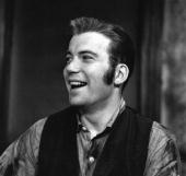 Canadian actor William Shatner laughs on the set of an episode of 'Robert Herridge Theater' entitled 'The Story of a Gunfighter' New York New York...