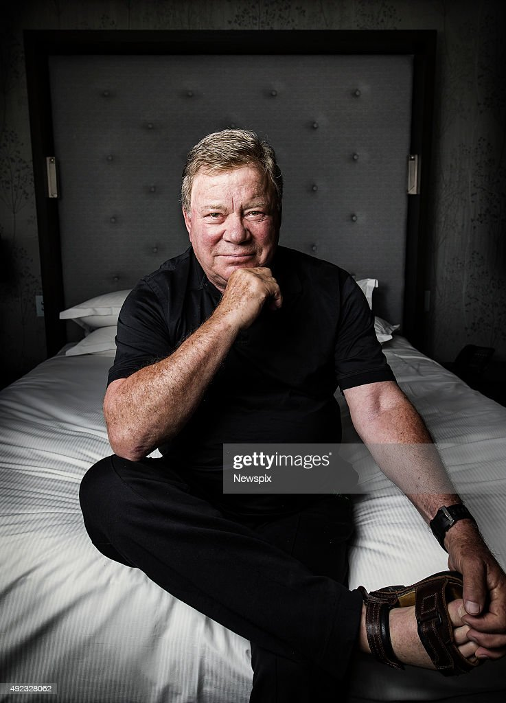 Canadian actor William Shatner poses during a photo shoot at the Sofitel in Brisbane Queensland