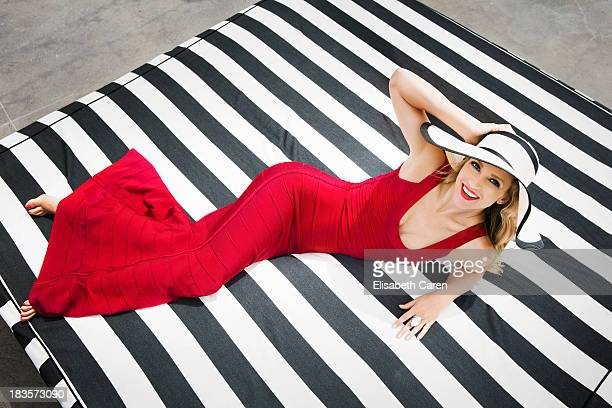 Canadian actress Aj Cook is photographed for Viva on July 13 2013 in Santa Monica California