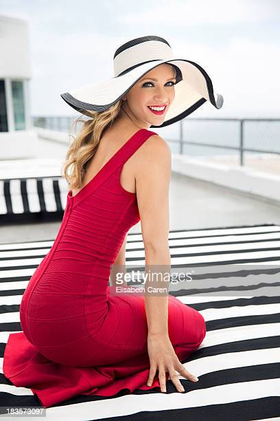 Canadian actress Aj Cook is photographed for Viva on July 13 2013 in Santa Monica California PUBLISHED IMAGE