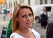 Canadian actress Genevieve Sabourin arrives on July 26 2012 at Manhattan Criminal Court in New York The 40yearold actress who is accused of stalking...