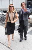 Canadian actress Genevieve Sabourin arrives with lawyer Maurice Sercarz at Manhattan Criminal Court in New York May 14 2012 Fourty yearold Sabourin...