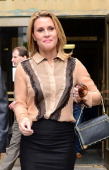 Canadian actress Genevieve Sabourin leaves Manhattan Criminal Court in New York on May 14 2012 The 40 yearold actress who is accused of stalking...