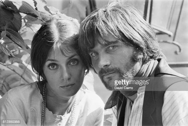 Canadian actress Joanna Shimkus and Italian actor Franco Nero on the film set of 'The Virgin and the Gypsy' 16th July 1969