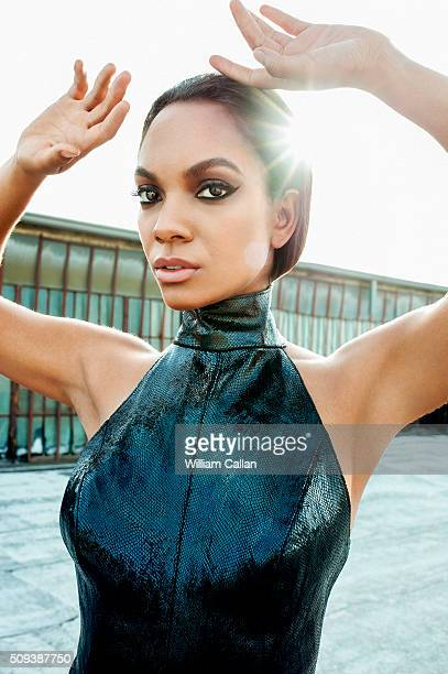 Canadian actress Lyndie Greenwood is photographed for The Source Magazine on January 16 2016 in Los Angeles California