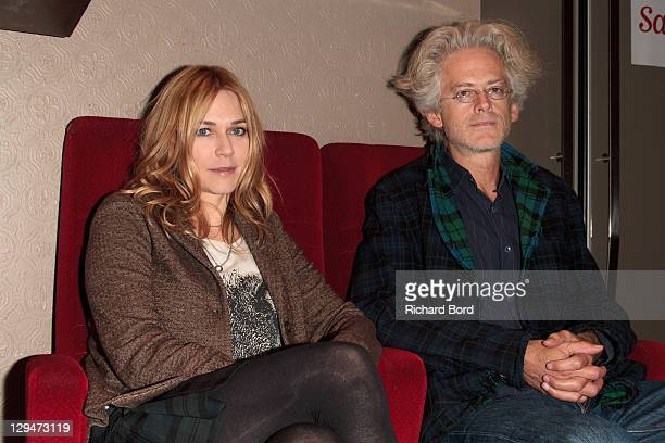 Canadian actress MarieJosee Croze and director Santiago Amigorena attend the Paris Premiere of 'Another Silence' at MK2 Beaubourg on October 17 2011...