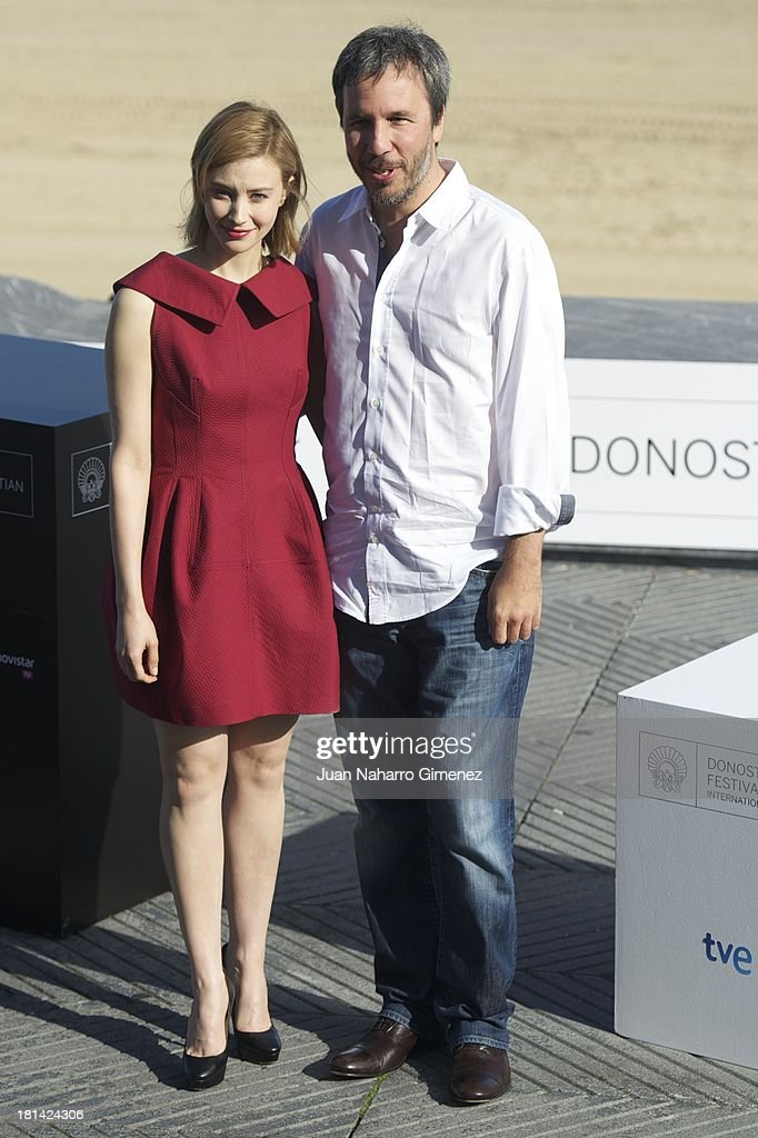 Canadian actress <a gi-track='captionPersonalityLinkClicked' href=/galleries/search?phrase=Sarah+Gadon&family=editorial&specificpeople=6606524 ng-click='$event.stopPropagation()'>Sarah Gadon</a> (L) and <a gi-track='captionPersonalityLinkClicked' href=/galleries/search?phrase=Denis+Villeneuve&family=editorial&specificpeople=6688941 ng-click='$event.stopPropagation()'>Denis Villeneuve</a> attend 'Enemy' photocall at Kursaal on September 21, 2013 in San Sebastian, Spain.