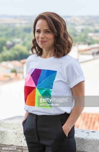 Canadian actress Suzanne Clement poses during a photocall for the film 'Le rire de ma mère' during the 10th Francophone Angouleme Film Festival in...
