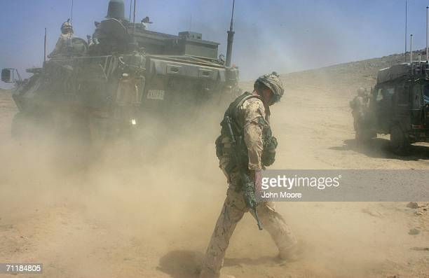 Canadian army soldiers arrive in Panjwai June 12 2006 an area west of Kandahar in southern Afghanistan Canadian and Afghan forces launched a fresh...
