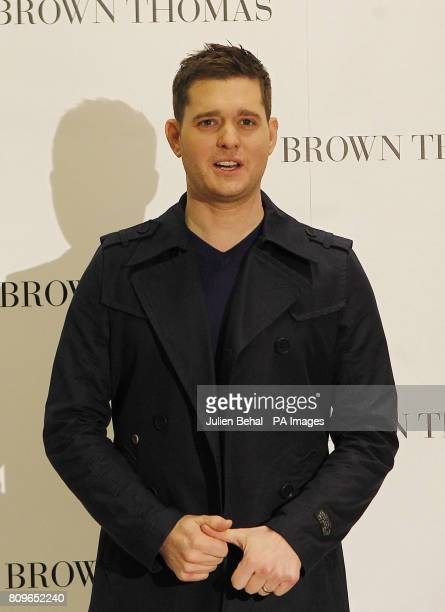 Canadian artist Michael Buble outside Brown Thomas in Dublin during his visit to Dublin to promote his album 'Christmas' and to switch on the...