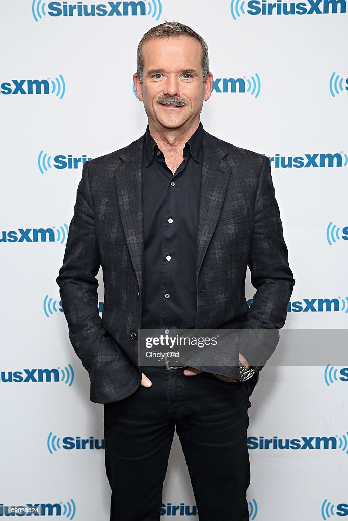 Canadian astronaut/ author <a gi-track='captionPersonalityLinkClicked' href=/galleries/search?phrase=Chris+Hadfield&family=editorial&specificpeople=2700911 ng-click='$event.stopPropagation()'>Chris Hadfield</a> visits the SiriusXM Studios on April 15, 2015 in New York City.