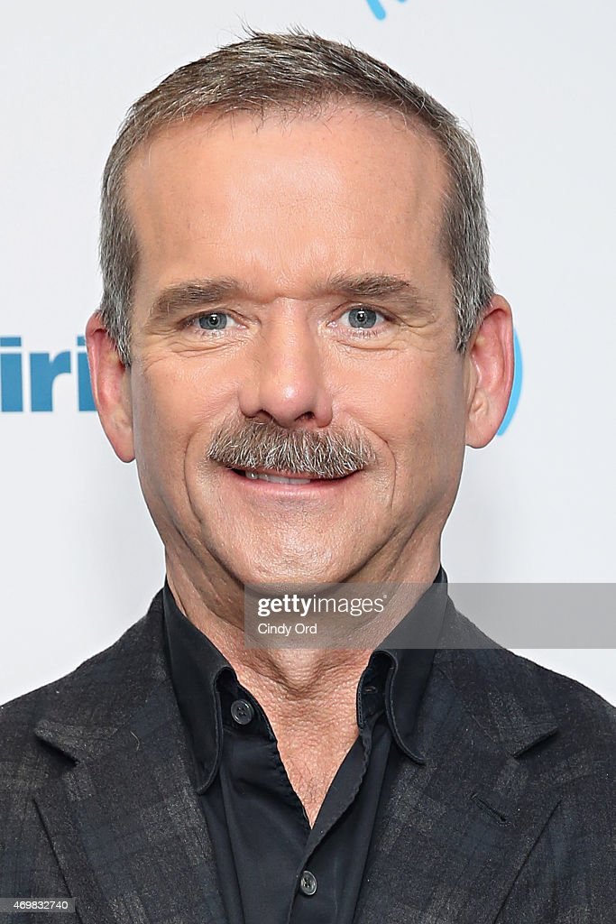 Canadian astronaut/ author Chris Hadfield visits the SiriusXM Studios on April 15, 2015 in New York City.