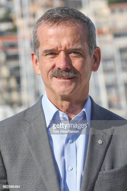Canadian Astronaut Chris Hadfield attends Photocall for 'Astronauts Toughest Job In The Universe' as part of MIPCOM at the Palais des Festivals on...