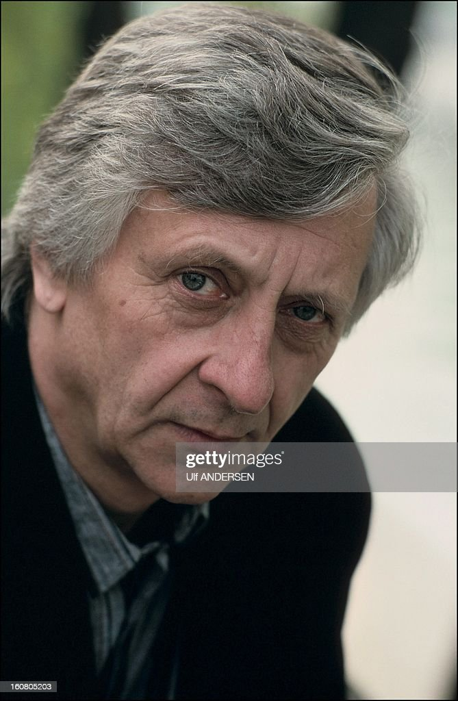 Canadian author Jacques Godbout portrait session on April 29, 1991 in France.