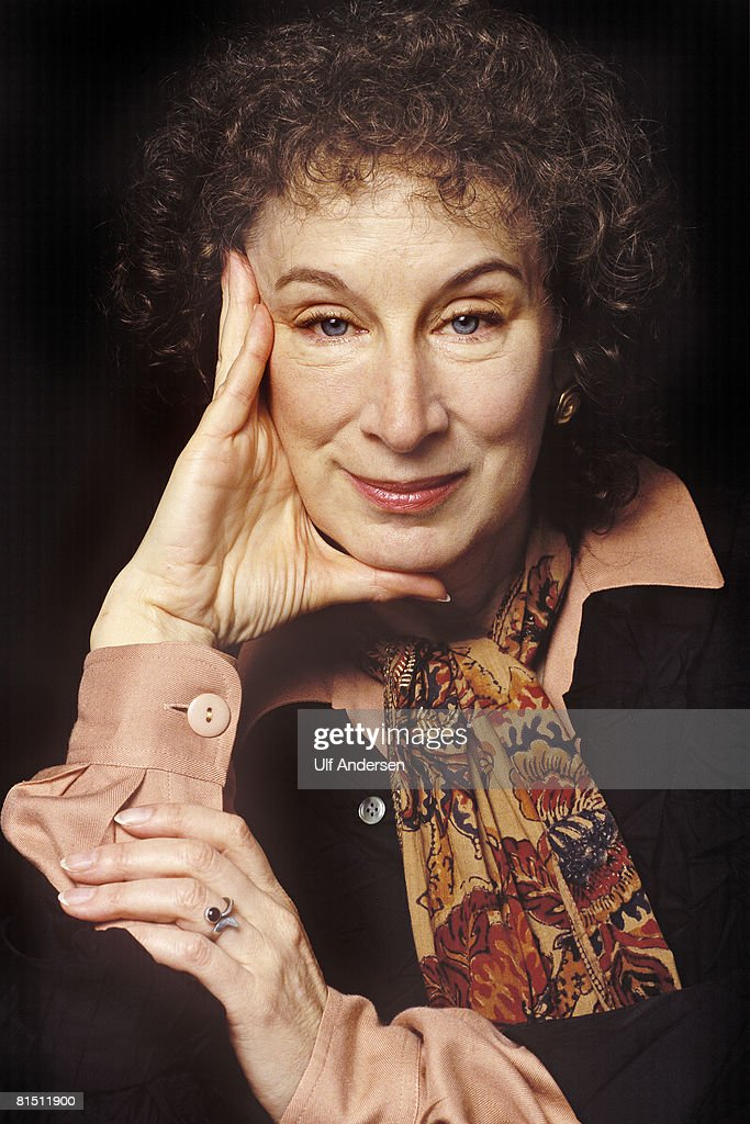 Canadian author Margaret Atwood poses while in Paris,France to promote her book on the 16th of November 1994.