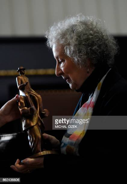 Canadian author Margaret Atwood receives the Franz Kafka Award for 2017 in Prague on October 17 2017 The Franz Kafka Prize is an international...