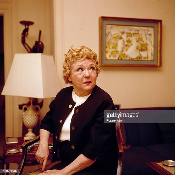 Canadian born actress Mary Pickford pictured in a hotel in London in 1965