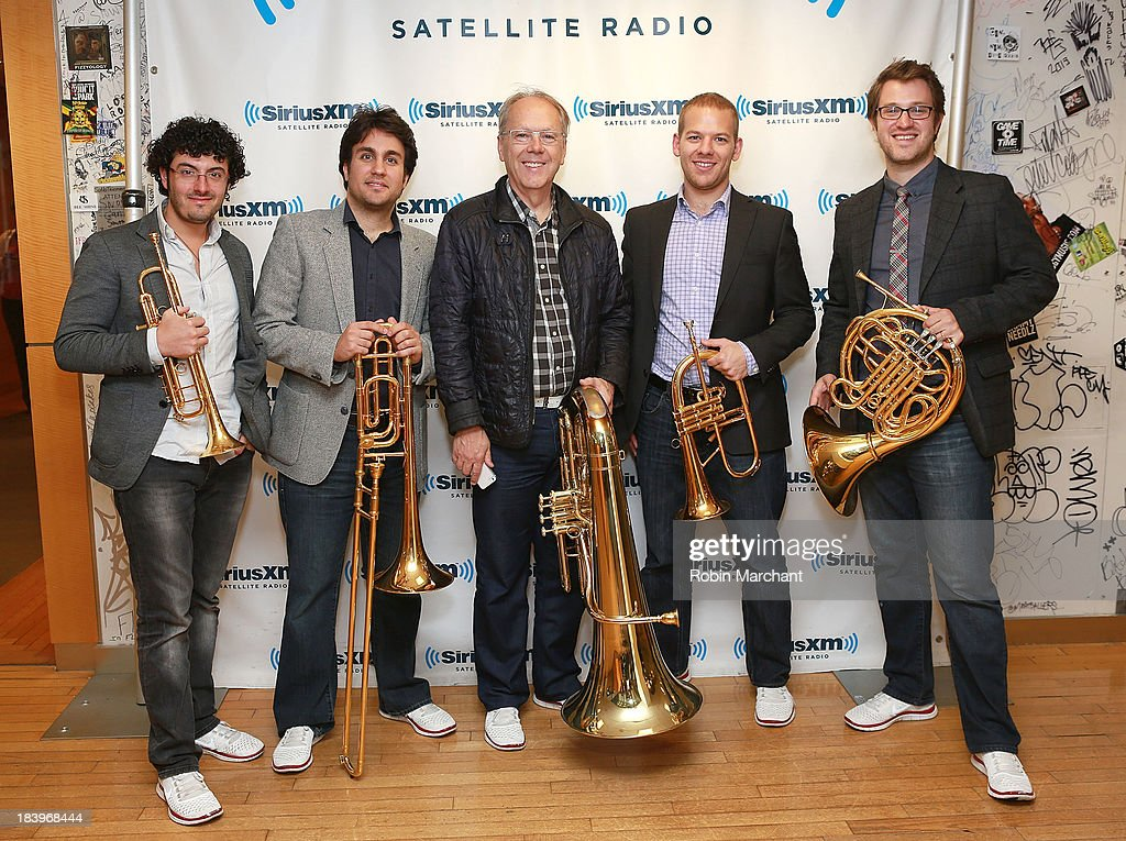 Canadian Brass visits at SiriusXM Studios on October 10, 2013 in New York City.