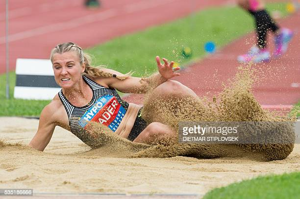 Canadian Brianne TheisenEatoncompetes during the longjump of the heptathlon on May 29 2016 as part of the 42nd HypoMeeting in Gotzis / AFP / APA /...