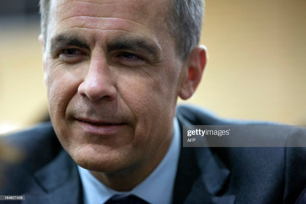 Canadian central bank chief and incoming Bank of England governor, Mark Carney, attends a financial and economic event discussing the financial crisis at the London School of Economics (LSE) in London on March 25, 2013. At the discussion which was attended by speakers including Bank of England governor Mervyn King, US Federal Reserve Chairman Ben Bernanke, UBS chairman Axel Weber and former US Treasury Secretary Lawrence Summers Bernanke rejected worries that the world's leading economies were competitively cutting their currency values.