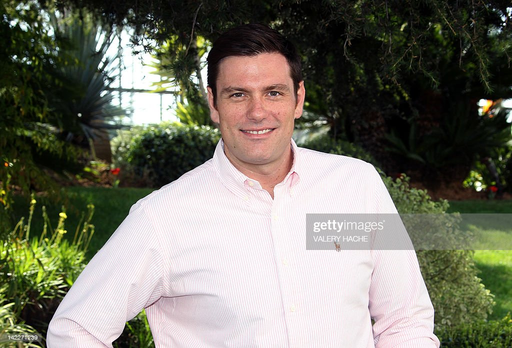 Canadian chef Chuck Hughes poses during a photocall of the MIPTV, on April 1, 2012 in Cannes, on the French Riviera. MIPTV, one of the world's largest broadcasting and audio-visual trade show, runs until April 4, 2012. AFP PHOTO / VALERY HACHE