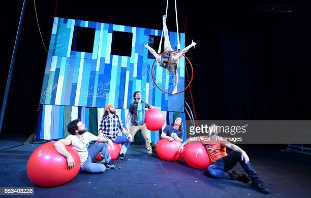 Canadian circus troupe Flip FabriQue performing Catch Me at The Underbelly Festival in London