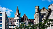 Canadian cities, Chateau Laurier Hotel - landmark architecture, Ottawa Canada.