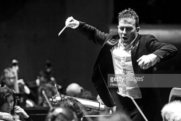 Canadian conductor Yannick NezetSeguin leads the Rotterdam Philharmonic Orchestra as they perform 'Concerto for Orchestra' at Avery Fisher Hall New...