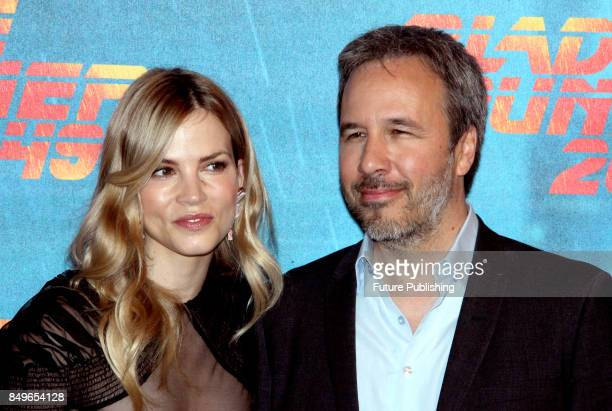 Canadian director Denis Villeneuve and Dutch actress Sylvia Hoeks pose during the photocall for ''Blade Runner 2049'' on September 19 2017 in Rome...