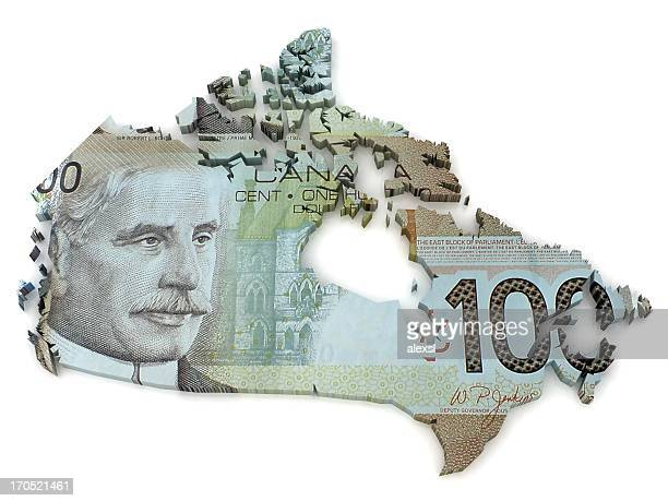 Canadian Dollar map