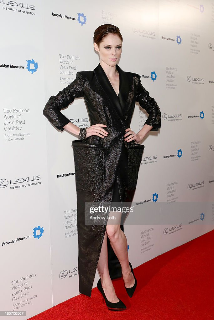 Canadian fashion model Coco Rocha attends the VIP reception and viewing for The Fashion World of Jean Paul Gaultier: From the Sidewalk to the Catwalk at the Brooklyn Museum on October 23, 2013 in the Brooklyn borough of New York City.