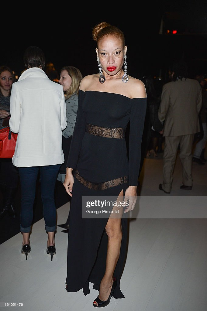 Canadian fashion model Stacey McKenzie attends World MasterCard Fashion Week Fall 2013 Collection at David Pecaut Square on March 18, 2013 in Toronto, Canada.