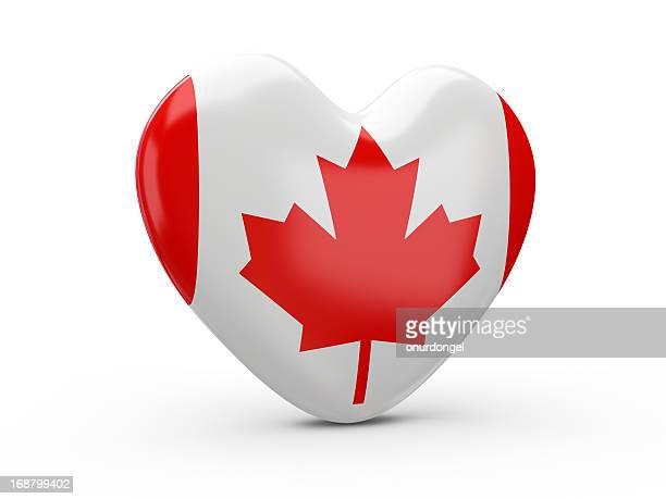 Drapeau canadien cœur