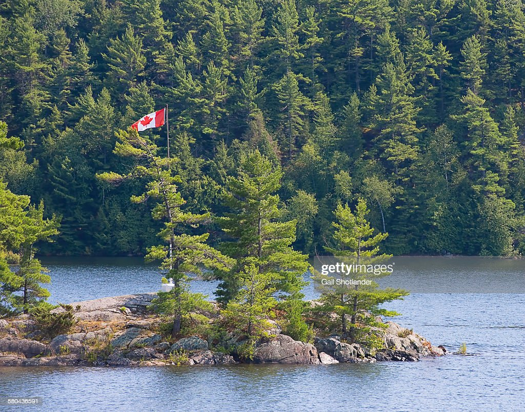 Canadian flag in the wilderness