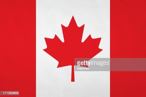Canadian flag with nice satin texture