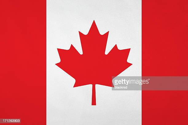 Canadian flag with nice satin texture