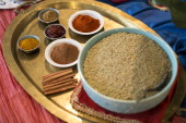 Canadian green lentils and Moroccan spices from PEI Chef Michael Smith at Cirillo's Culinary Academy Smith partnered with Canadian Lentils to produce...