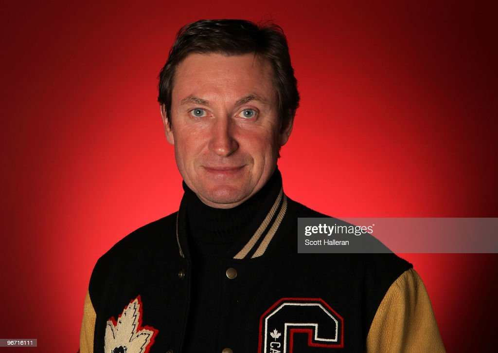 Canadian hockey legend Wayne Gretzky poses in the NBC Today Show Studio at Grouse Mountain on February 15 2010 in North Vancouver Canada