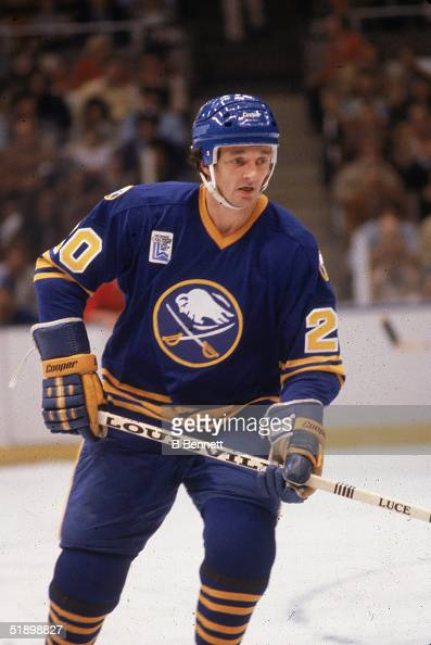 Canadian hockey player Don Luce of the Buffalo Sabres skates on the ice during a game against the New York Islanders at Nassau Coliseum Uniondale New...