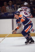 Canadian ice hockey player Al Hamilton of the Edmonton Oilers on the ice during a game against the New York Rangers October 1979