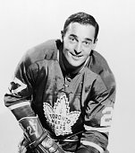 Canadian ice hockey player Frank Mahovlich of the Toronto Maple Leafs 1960s
