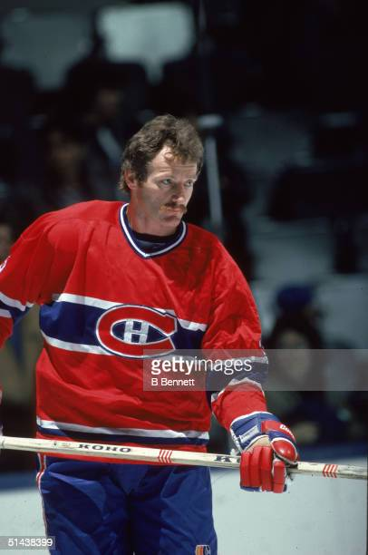 Canadian ice hockey player Larry Robinson of the Montreal Canadiens Montreal Canada late 1970s