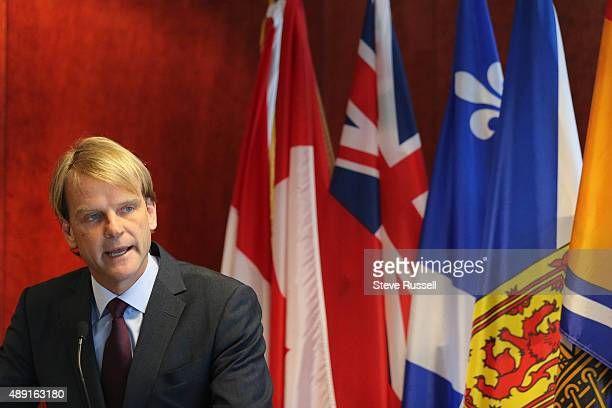 TORONTO ON SEPTEMBER 19 Canadian Immigration Minister Chris Alexander announces that the federal government will accelerate the process for refugee...
