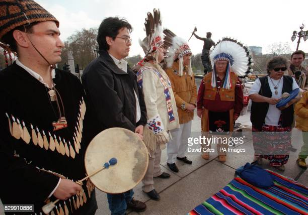 Canadian Indians gather in central London this morning to defend their right to trap fur Many Indians fear that an EU ban on fur imports will mean...