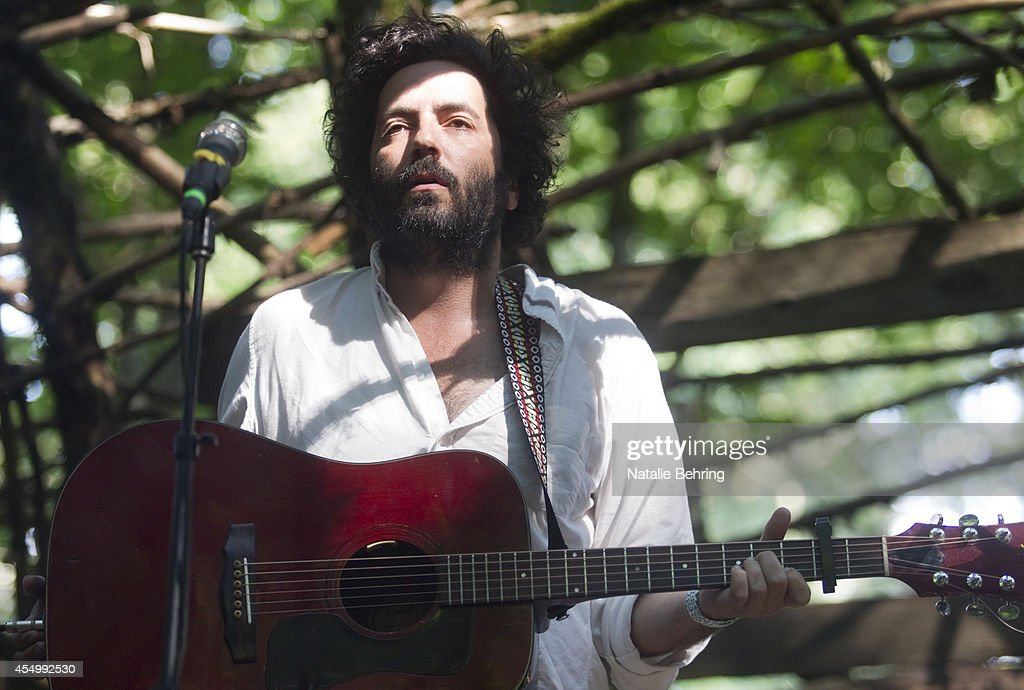 Canadian indie rocker from Vancouver British Columbia singersongwriter Dan Bejar of Destroyer performs at the Wood Stage at the Pickathon music...